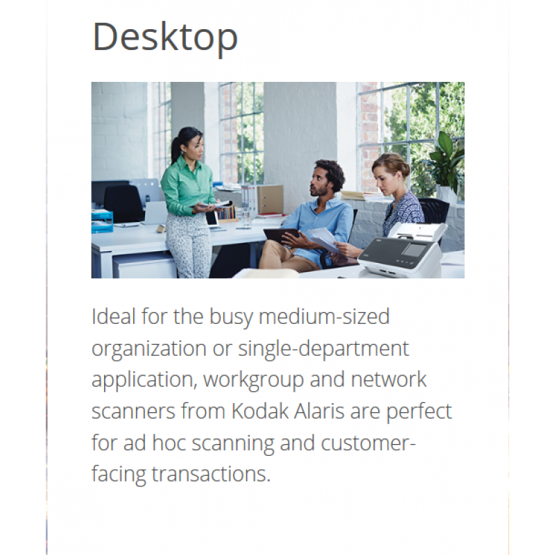Kodak Alaris' workgroup scanners