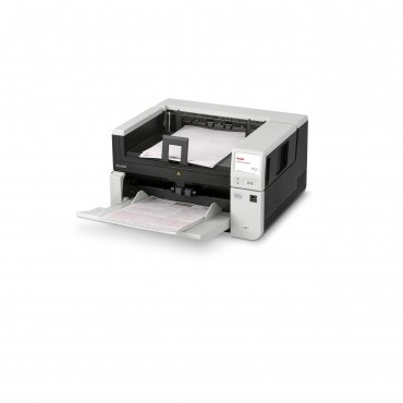 Kodak s3100f Scanner • Compact departmental duplex A3 scanner with in-built A4 size flatbed • on-board image processing  • Automatic feeding of up to 100 ppm / 200 ipm • Rotary and Straight-Through Paper Path • USB 3 and Network Interface • 300 Sheets Fee