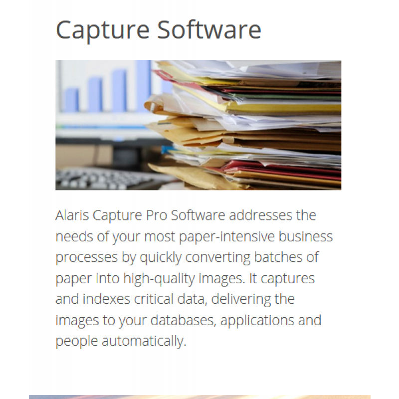 Capture Pro Software for scanning apps